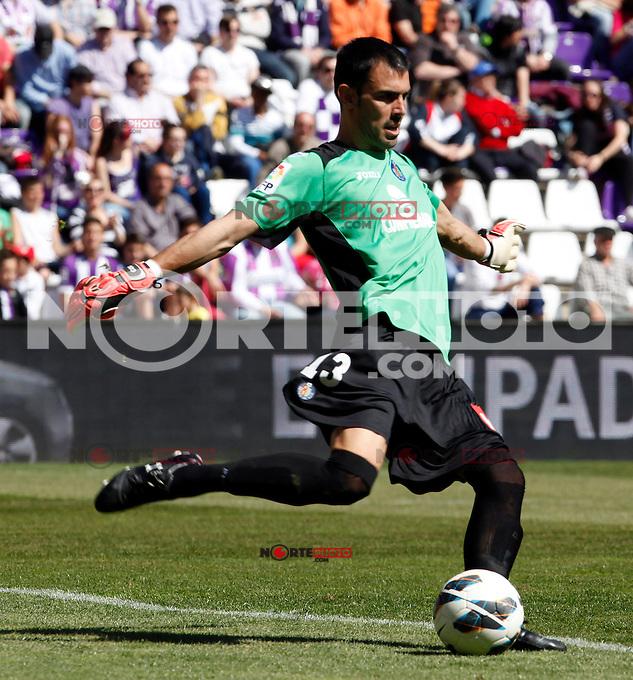 Real Valladolid V Getafe´s Jordi Codina match during La Liga 2012-13. April 13, 2013 (Victor J Blanco/Alterphotos)