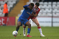 Dan Kemp of Stevenage and Brandon Thomas-Asante of Salford City during Stevenage vs Salford City, Sky Bet EFL League 2 Football at the Lamex Stadium on 15th February 2020