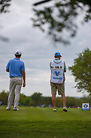 Danny Lee (NZL) looks over his tee shot on 2 during day 4 of the Valero Texas Open, at the TPC San Antonio Oaks Course, San Antonio, Texas, USA. 4/7/2019.<br /> Picture: Golffile | Ken Murray<br /> <br /> <br /> All photo usage must carry mandatory copyright credit (© Golffile | Ken Murray)