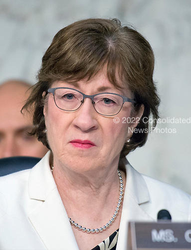 United States Senator Susan Collins (Republican of Maine) listens to testimony before the US Senate Select Committee on Intelligence on the Russian intervention in the 2016 Presidential election on Capitol Hill in Washington, DC on Wednesday, June 28, 2017.<br /> Credit: Ron Sachs / CNP