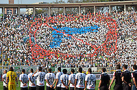 ATENÇÃO EDITOR: FOTO EMBARGADA PARA VEÍCULOS INTERNACIONAIS - SÃO PAULO, SP, 16 DE SETEMBRO DE 2012 - CAMPEONATO BRASILEIRO - PALMEIRAS x CORINTHIANS: Torcida do Palmeiras antes da partida Palmeiras x Corinthians, válida pela 25ª rodada do Campeonato Brasileiro no Estádio do Pacaembú. FOTO: LEVI BIANCO - BRAZIL PHOTO PRESS