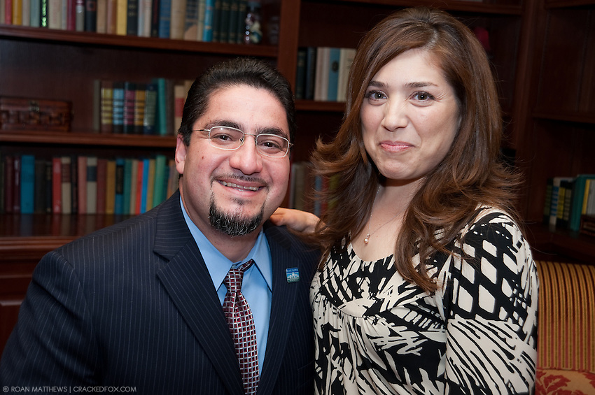 Richard Cantu with Cecillia Sauceda at the East Aldine Annual Partner reception and Dinner