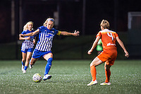 Allston, MA - Wednesday Aug. 31, 2016: Whitney Engen, Rebecca Moros during a regular season National Women's Soccer League (NWSL) match between the Boston Breakers and the Houston Dash at Jordan Field.