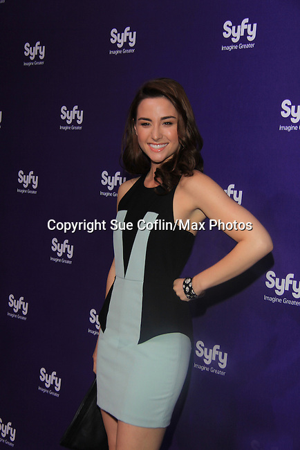 Allison Scagliotti in Warehouse 13 at SYFY 2013 Upfront Event on April 8, 2013 at Silver Screen Studios, NYC, NY (Photo by Sue Coflin/Max Photos)........... (Photo by Sue Coflin/Max Photos)