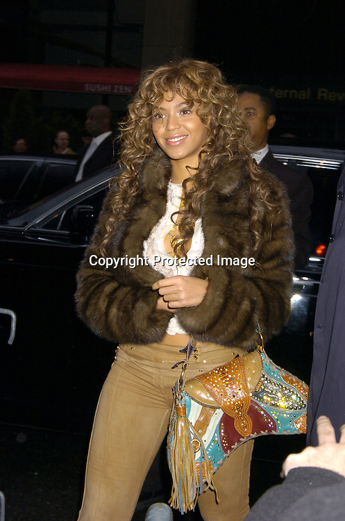Beyonce ..at the Broadway Opening of Julius Caesar on April 3, 2005 at the Belasco Theatre. ..Photo by Robin Platzer, Twin Images