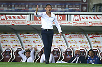 Moreno Longo coach of Torino FC reacts during the Serie A football match between Torino FC and AS Roma  at Olimpico stadium in Roma (Italy), July 29th, 2020. Play resumes behind closed doors following the outbreak of the coronavirus disease. Photo Gino Mancini / Insidefoto