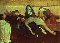 Paintings:  Quarton--Pieta de Villeneuve-les-Avignon.  Louvre.  Reference only.