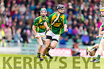 James Godley Kilmoyley in action against  Ballyduff in the County Senior Hurling Final at Austin Stack Park on Sunday.