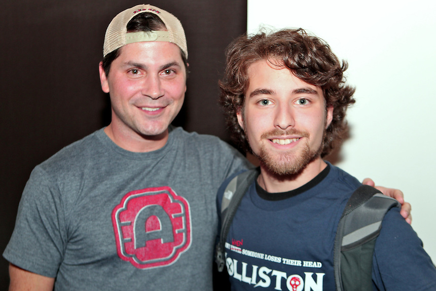 Adam Green and Emerson student Jacob Davison '12.  Photos by Aja Neahring. students, famous