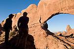 Utah, Arches National Park, North Window toward Turret Arch, photographers, U.S.A., Southwest America,