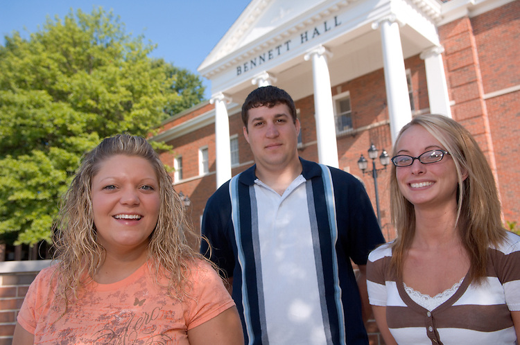 18322OU Chillicothe Campus ..Amber Coon(orange)..Rebekah Halterman(stripes)..Tristan Chrisman