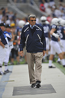 24 September 2011:  Penn State coach Joe Paterno was on the side line for the first time of the season. The Penn State Nittany Lions defeated the Eastern Michigan Eagles 34-6 at Beaver Stadium in State College, PA.