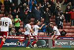 Billy Sharp of Sheffield Utd celebrates scoring the winning goal - English League One - Sheffield Utd vs Coventry City - Bramall Lane Stadium - Sheffield - England - 13th December 2015 - Pic Simon Bellis/Sportimage-