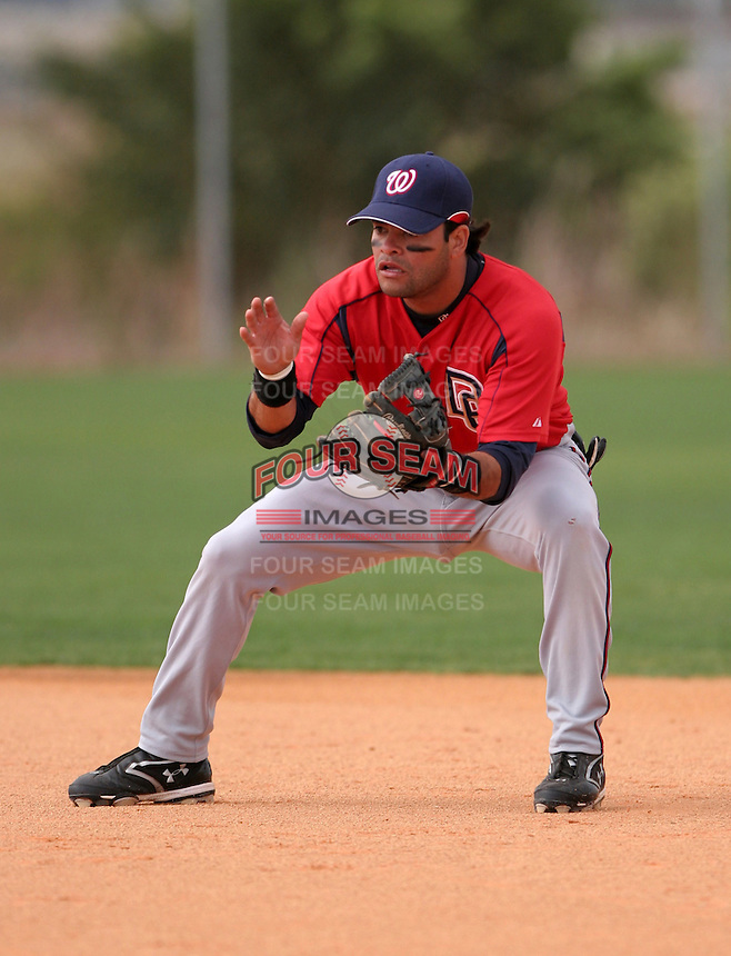 Washington Nationals minor leaguer Alexis Nunez during Spring Training at the Carl Barger Training Complex on March 19, 2007 in Melbourne, Florida.  (Mike Janes/Four Seam Images)