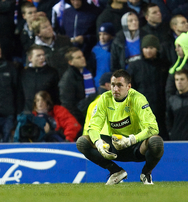 Allan McGregor disconsolate after Stuttgart's second goal