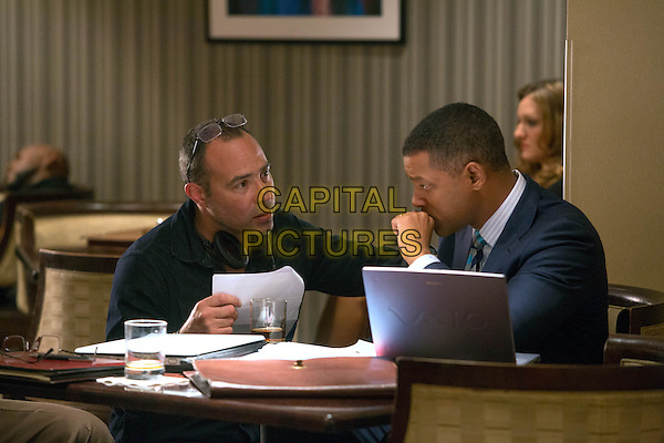 Concussion (2015) <br /> Director Peter Landesman, left, and Will Smith <br /> *Filmstill - Editorial Use Only*<br /> CAP/FB<br /> Image supplied by Capital Pictures