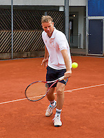 Austria, Kitzbuhel, Juli 14, 2015, Tennis, Davis Cup, Training Dutch team, Captain Jan Siemerink<br /> Photo: Tennisimages/Henk Koster