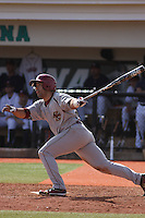 Boston College infielder Spenser Payne #33 at bat during a game against the University of Virginia Cavaliers at Watson Stadium at Vrooman Field on February 17, 2012 in Conway, SC.  Boston College defeated Virginia 5-3.  (Robert Gurganus/Four Seam Images)