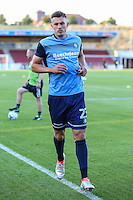 Will De Havilland of Wycombe Wanderers warms up ahead of The Checkatrade Trophy match between Northampton Town and Wycombe Wanderers at Sixfields Stadium, Northampton, England on 30 August 2016. Photo by David Horn / PRiME Media Images.