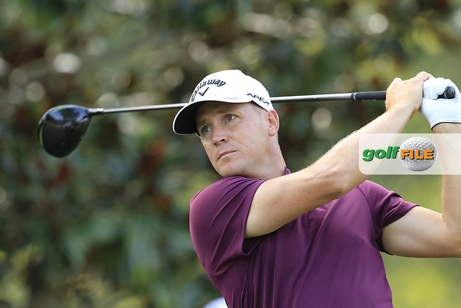 Alex Noren (NOR) tees off the 15th tee during Thursday's Round 1 of the 2017 PGA Championship held at Quail Hollow Golf Club, Charlotte, North Carolina, USA. 10th August 2017.<br /> Picture: Eoin Clarke | Golffile<br /> <br /> <br /> All photos usage must carry mandatory copyright credit (&copy; Golffile | Eoin Clarke)