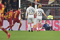 Henrikh Mkhitaryan of Roma scores a goal <br /> Roma 23-02-2020 Stadio Olimpico <br /> Football Serie A 2019/2020 <br /> AS Roma - Lecce<br /> Foto Antonietta Baldassarre / Insidefoto