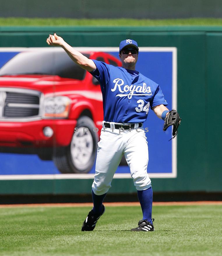 Matt Diaz, of the Kansas City Royals , in action against the Texas Rangers on June 5, 2005...Rangers win 8-1...Dilip Vishwanat / SportPics