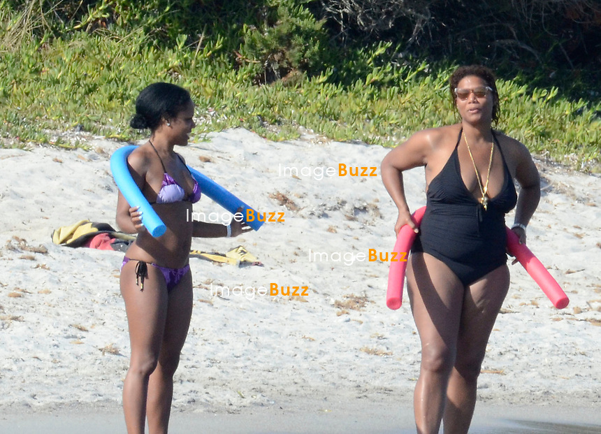 EXCLUSIVE<br /> August 24, 2014 – Corsica – Queen Latifah with her girlfriend spending holidays on a yacht. The couple was seen enjoying some good time in the Mediterranean sea.