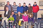 At a presentation of EUR6,000 to Valentia Lifeboat on Wednesday last were front l-r; Andrew Quigley, Emma Quigley, Richard Quigley(Cox), Timothy Lyons(Treasurer), Dora O'Reilly, Ciara Quigley, back l-r; Sean Curran, Connor Curtin, Jim Whelan, Leo Houlihan, John O'Reilly & Sean Curtin.
