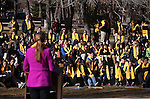 Dignitaries speak to several hundred people at a &quot;Nevada Supports School Choice&quot; rally in support of educational choices on the Capitol grounds in Carson City, Nev., on Wednesday, Jan. 28, 2015.<br /> Photo by Cathleen Allison