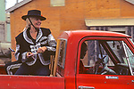 Fran Tate at 4th of July Parade (Perry Daniels Driving Truck)