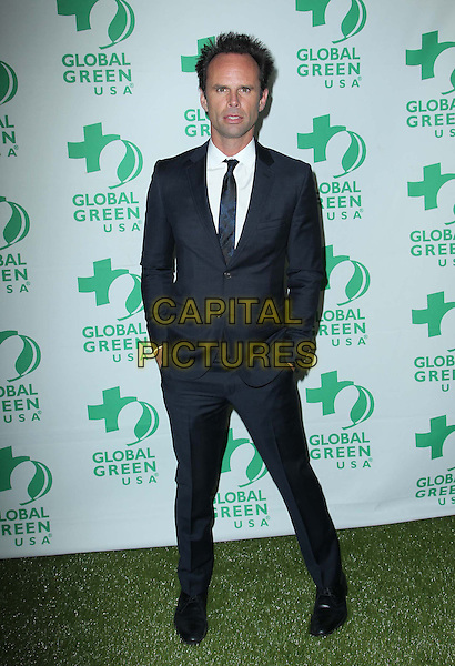 Walton Goggins.10th Annual Global Green USA Pre-Oscar Party held at Avalon, Hollywood, California, USA..20th February 2013.full length hands in pockets suit white tie black shirt.CAP/ADM/KB.©Kevan Brooks/AdMedia/Capital Pictures.