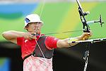 Takaharu Furukawa (JPN), <br /> AUGUST 12, 2016 - Archery : <br /> Men's Individual Round of 16 <br /> at Sambodromo <br /> during the Rio 2016 Olympic Games in Rio de Janeiro, Brazil. <br /> (Photo by Yusuke Nakanishi/AFLO SPORT)