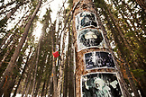 USA, Colorado, Aspen, a shrine dedicated to Gerry Garcia of the Grateful Dead is hidden in the woods on Ajax mountian, Aspen Ski Resort