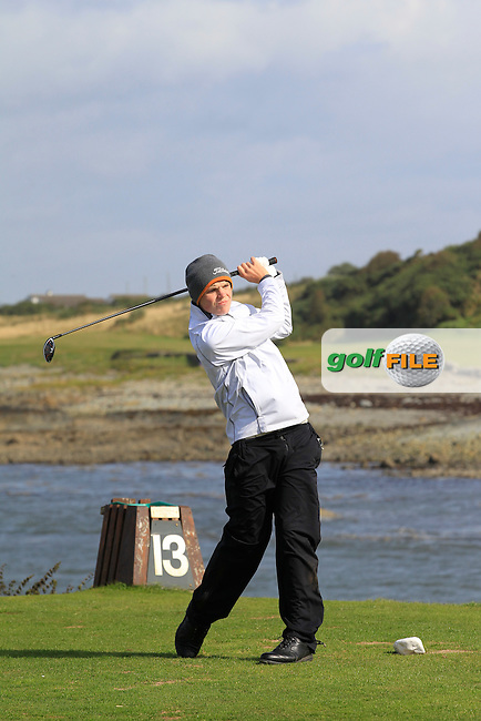Ross Steedman (Courtown) on the 13th tee during Round 3 of the Irish Youths Amateur Close Championship in Ardglass Golf Club on Friday 29th August 2014.<br /> Picture:  Thos Caffrey / www.golffile.ie