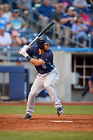 Corpus Christi Hooks right fielder Ramon Laureano (9) at bat during a game against the Tulsa Drillers on June 3, 2017 at ONEOK Field in Tulsa, Oklahoma.  Corpus Christi defeated Tulsa 5-3.  (Mike Janes/Four Seam Images)