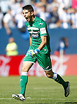 CD Leganes' Jon Ander Serantes celebrates goal during La Liga match. October 15,2016. (ALTERPHOTOS/Acero)