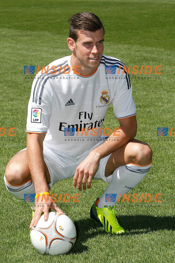 Gareth Bale during the official presentation as new player of Real Madrid football club in Santiago bernabeu Stadium in Madrid, Spain.. September 02, 2013. (ALTERPHOTOS/Caro Marin) <br /> Football Calcio 2013/2014<br /> La Liga Spagna<br /> Foto Alterphotos / Insidefoto <br /> ITALY ONLY