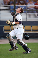 August 16 2008:  Catcher Greg Yersich (19) of the Beloit Snappers, Class-A affiliate of the Minnesota Twins, during a game at Pohlman Field in Beloit, WI.  Photo by:  Mike Janes/Four Seam Images