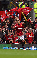Pictured: Javier Hernandez.<br /> Sunday 12 May 2013<br /> Re: Barclay's Premier League, Manchester City FC v Swansea City FC at the Old Trafford Stadium, Manchester.