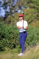 Brandon Wu (USA) on the 6th tee during the singles matches at the Walker Cup, Royal Liverpool Golf Club, Hoylake, Cheshire, England. 07/09/2019.<br /> Picture Fran Caffrey / Golffile.ie<br /> <br /> All photo usage must carry mandatory copyright credit (© Golffile | Fran Caffrey)