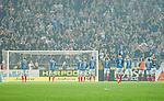 Solna 2014-08-13 Fotboll Allsvenskan AIK - Djurg&aring;rdens IF :  <br /> Djurg&aring;rdens spelare tackar Djurg&aring;rdens supportrar efter matchen<br /> (Foto: Kenta J&ouml;nsson) Nyckelord:  AIK Gnaget Friends Arena Allsvenskan Derby Djurg&aring;rden DIF supporter fans publik supporters