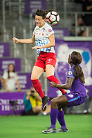 Orlando, FL - Saturday August 05, 2017: Taylor Comeau, Chioma Ubogagu during a regular season National Women's Soccer League (NWSL) match between the Orlando Pride and the Chicago Red Stars at Orlando City Stadium.