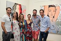 SANTA MONICA - JUN 25: James O'Halloran, Jaimee Gooley, Jess Foley, Katie Hodges, Tim Bathurst, Ant Simpson at the David Bromley LA Women Art Exhibition opening reception at the Andrew Weiss Gallery on June 25, 2016 in Santa Monica, California