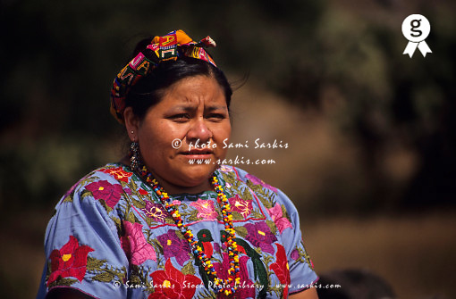 1992 Guatemalan Nobel Peace Prize Winner Rigoberta Menchu, portrait Mexico, Teotihuacan (Licence this image exclusively with Getty: http://www.gettyimages.com/detail/200555829-001 )