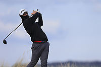 Jake Hapgood (Southerndown) during the first round of matchplay at the 2018 West of Ireland, in Co Sligo Golf Club, Rosses Point, Sligo, Co Sligo, Ireland. 01/04/2018.<br /> Picture: Golffile | Fran Caffrey<br /> <br /> <br /> All photo usage must carry mandatory copyright credit (&copy; Golffile | Fran Caffrey)