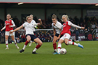 Beth Mead of Arsenal goes close to a goal during Arsenal Women vs Liverpool Women, Barclays FA Women's Super League Football at Meadow Park on 24th November 2019