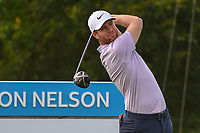 Lucas Bjerregaard (DEN) watches his tee shot on 15 during the round 1 of the AT&T Byron Nelson, Trinity Forest Golf Club, Dallas, Texas, USA. 5/9/2019.<br /> Picture: Golffile | Ken Murray<br /> <br /> <br /> All photo usage must carry mandatory copyright credit (© Golffile | Ken Murray)