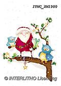 Marcello, CHRISTMAS ANIMALS, WEIHNACHTEN TIERE, NAVIDAD ANIMALES, paintings+++++,ITMCXM1980,#XA# ,owls