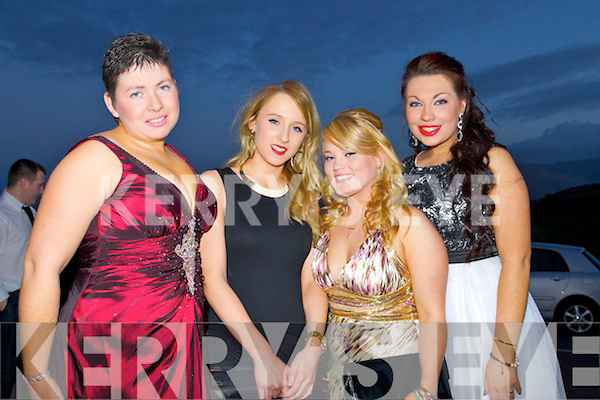 Patricia O'Sullivan, Diane O'Connor, Jenny Plunkett and Amanda O'Donnell, attending the IT Tralee college ball, held in Ballyroe Heights Hotel, Tralee, on Wednesday March 26th