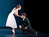 The Royal Danish Ballet soloists &amp; principals <br /> Bournoville Celebration <br /> at The Peacock Theatre, London, Great Britain <br /> press photocall<br /> 9th January 2015 <br /> <br /> La Sylphide <br /> <br /> <br /> Gudrun Bojesen as the Sylph <br /> Ulrik Birkkjaer as James<br /> <br /> <br /> <br /> Photograph by Elliott Franks <br /> Image licensed to Elliott Franks Photography Services